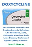 DOXYCYCLINE: The Ultimate Antibiotics For Treating Bacterial Infections Like Pneumonia, Acne, Chlamydia Infections, Early Lyme Disease, Cholera and Syphilis (STI's) & Maleria. (English Edition)