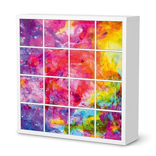 creatisto Möbel-Folie Sticker für IKEA Kallax Regal 16 Türelemente   Deko Dekor Möbel-Tattoo   Inneneinrichtung renovieren Home Deko   Design Motiv Abstract Watercolor