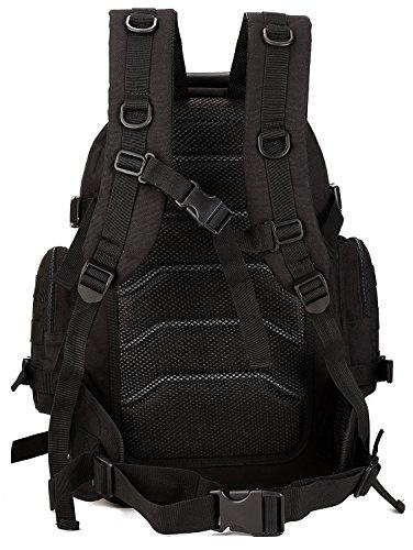 Zaino Unisex 40L Tattico Militare Outdoor Sport Backpack per Viaggio Escursionismo Campeggio Alpinismo,Nero Nero