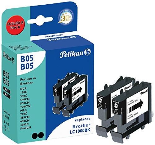 Pelikan Druckpatronen DoppelPack B05B05 ersetzt Brother LC1000BK, 2x Schwarz