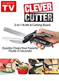 #10: Clever Cutter 2 In 1 Vegetable Fruit Chopper Slicer Cheese Cutter Kitchen Scissors Knife Board Chopper Multi function Tool