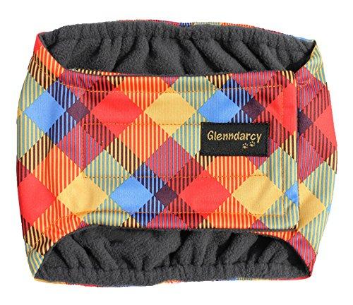 Stecker Hund Urin Inkontinenz Bauchband Windel–wasserdicht Stoff–waschbar Pad Option–Rainbow (Rainbow Baumwolle Band)