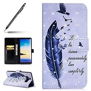 Uposao Kompatibel mit Handyhülle Galaxy Note 8 Handytasche Glitzer Bling Glänzend Leder Tasche Schutzhülle Klappbar…