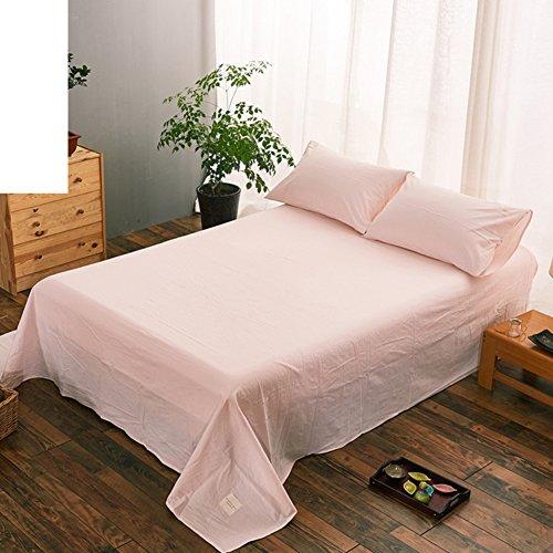 qwert Reine Baumwoll-bettwäsche Einzigen Karo-blätter Schlafzimmer-blätter-G 270x245cm(106x96inch) (Bettbezug 106 96 X)
