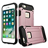 gahatoo iPhone 6/6 s Outdoor Case Hülle Ultra Slim [Hybrid TPU Silikon Hardcase] Handyhülle in Roségold [Tactical Military Defender]