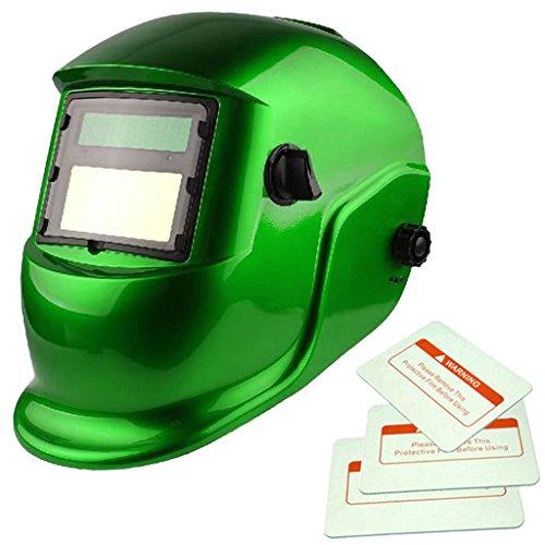 Generic Solar Automatischer Verdunkelung Schweißmaske Helm Maske 4 Farbwechsel - Grün