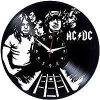 EVEVO de AC DC ACDC Reloj de Pared Vinilo Tocadiscos Retro de Reloj Grande  Relojes Style bef2de9564c