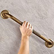 PitengTM Antique Brass Handrail Style Shower Bathroom