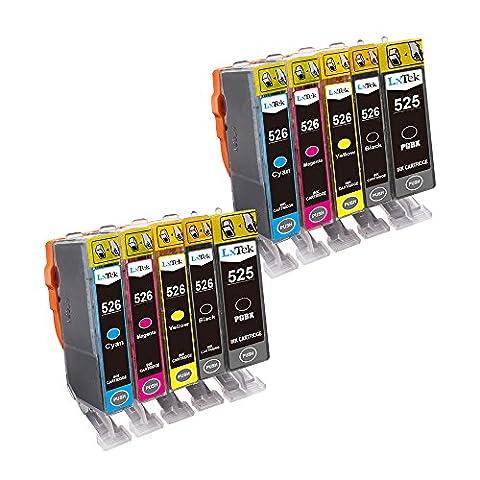 LxTek Kompatibel Tintenpatronen Canon 525 526 PGI-525 CLI-526 (2 PGI-Schwarz, 2 CLI-Schwarz, 2 Cyan, 2 Magenta, 2 Gelb) für Canon PIXMA IX6500 IX6550 MX715 MX882 MX885 MX895 IP4800 IP4850 IP4900 IP4950 IP6500 IP6550 MG5100 MG5120 MG5150 MG5200 MG5220 MG5250 MG5300 MG5350 MG6100 MG6120 MG6150 MG6200 MG6220 MG6250 MG8120 MG8150 MG8170 MG8200 MG8220 MG8250 Drucker