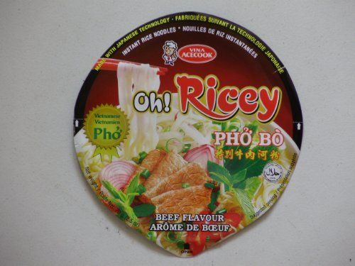 Caso di 12 Oh! Ricey Delicious Completa INSTANT vietnamita Pho Bo manzo Sapore Noodle Soup Bowls
