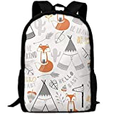 best& Vintage Brave Fox College Laptop Backpack Student School Bookbag Rucksack Travel Daypack