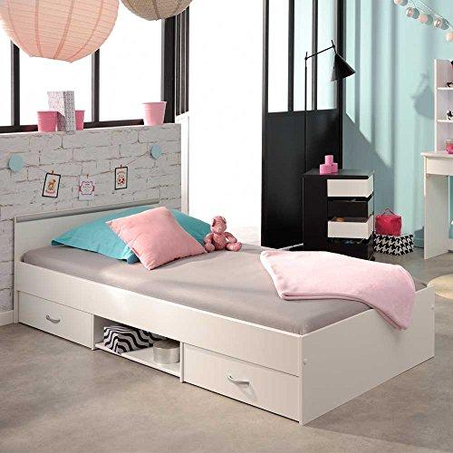 Einzelbett weiß mit schubladen  Bett schubladen 90x200 »–› PreisSuchmaschine.de