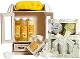 BRUBAKER Cosmetics Bade- und Pflegeset Lemon & Vanilla Rose Minze 15-teilig