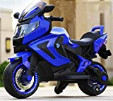 Lvbeis Kinder Elektro Motorrad 12 Volt Akku Motorcycle Musik Kindermoped Kleinkinder Motocross,Blue