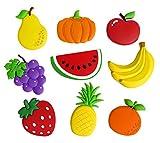HAPPY - 9 imanes de nevera para pizarras, frigorífico, manualidades, tablero de anuncios de frutas