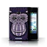 Coque de Stuff4 / Coque pour LG Optimus L3 E400 / Singe-Pourpre Design / Motif Animaux Aztec Collection