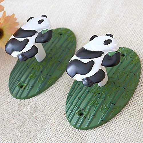 Vorhanghaken Reizender Panda-geformter Vorhang-Bindungs-Haken-Vorhang-Quasten-Raffhalter-Haken, rustikale Metallvorhang-Raffhalter-Landhaus-Dekoration der chinesischen Art Vorhang Tie Backs -