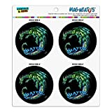 Dragon Slayer Fantasy Gaming Kühlschrank Kühlschrank Locker Vinyl Kreis Magnet-Set