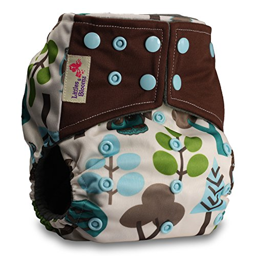 LittleBloom, Reusable Pocket Real Cloth Nappy Washable Diaper BAMBOO CHARCOAL