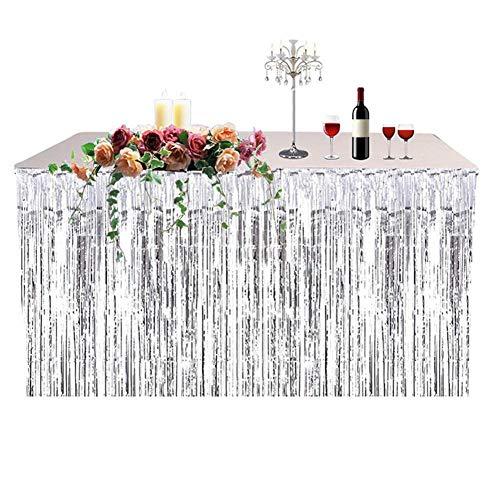 Tischrock Hawaii Tischdecke Party Tisch Vorhang Feierfest Tisch Rock Tischdecken Zubehör für Hochzeit Garten Strand Party Dekoration, 74 x 274 cm (Strand-hochzeits Tisch Dekorationen)