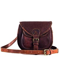 CP Leather Genuine Leather Dark Brown Sling Bag For Girls And Women