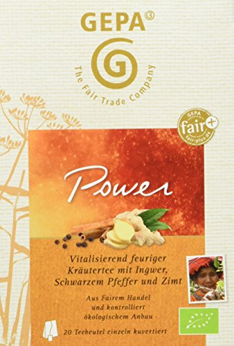 GEPA Bio fair+ Wellness Tee, Power, 5er Pack (5 x 30 g)