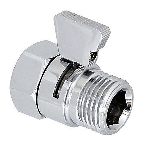 Homeself Robinet d'arrêt de douche/douchette/bidet à piston en laiton Contrôle de Débit Pièce de Rechange