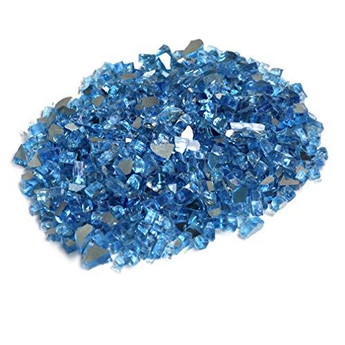 Skyflame 10-Pound Fire Glas für Kamin Fire Pit und Landschaftsbau, Pacific Blau Reflektierend, 1/4-Zoll -