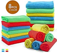 Microfiber Cleaning Cloth, Large Size 40 x 40 cm, Trap Dust, Dirt and Pet Dander in Split Fibers. Absorb up to