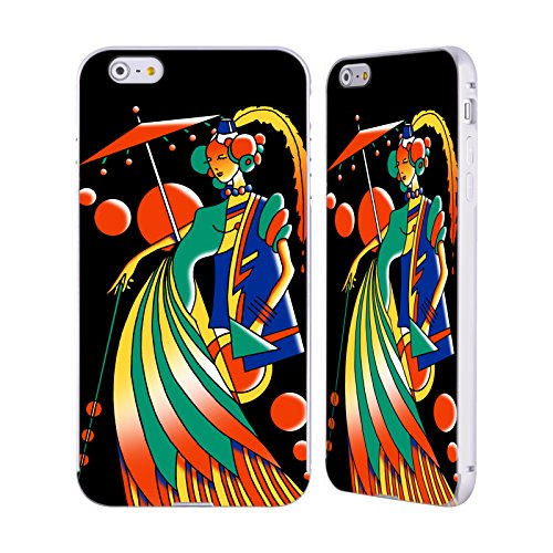 Ufficiale Howie Green Mucha 116 3 Donne Astratte Argento Cover Contorno con Bumper in Alluminio per Apple iPhone 5 / 5s / SE Art Deco 4