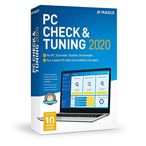 MAGIX PC Check & Tuning - Version 2020 - Macht Ihren PC: Schneller. Stabiler. Geräumiger.|Standard|1|1 Year|PC|Disc|Disc