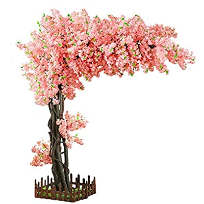 XUANLAN-Realistischer-knstlicher-Baum-Simulation-Cherry-Tree-Wishing-Tree-Knstlicher-Baum-Indoor-Groe-Geflschte-Pfirsichbaum-Hochzeit-Boden-Dekoration-Grnpflanze-Leicht-zu-reinigen