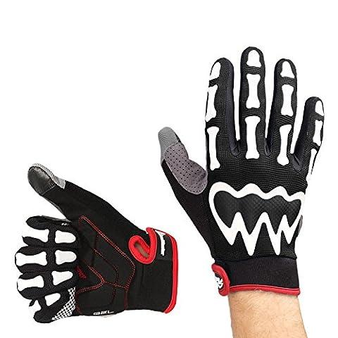 OutdoorMaster Bike Gloves - Half Finger/Full Finger Bicycle Gloves for Men & Women (Full Finger, Black,