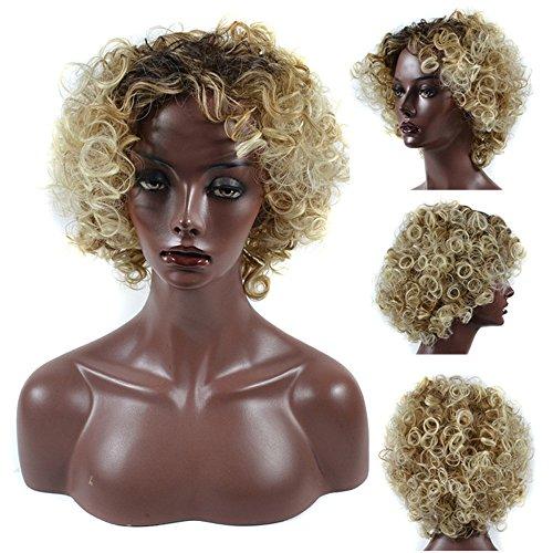 e lockige Haare Groß Explosiver Kopf Perücken Flauschige Karneval Perücke SSUDADY Afrikanische Schwarze Synthetische Perücke für Cosplay Karneval Party Fasching ()