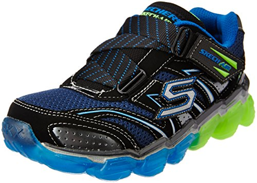 Turbo Memory (Skechers Kids Boys' Skech Air-Turbo Rush Sneaker, Black/Blue/Lime, 2 M US Little Kid)