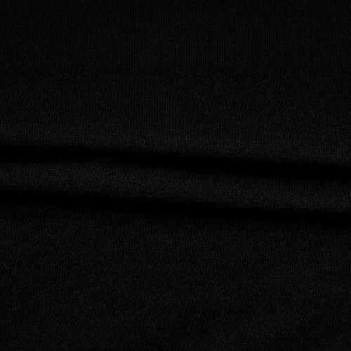 Sunenjoy Femmes Dame Chemisier Lâche Chauve-souris à manches longues Dentelle Gilet T-shirt Couture col oblique Pull Hauts Élégant Occasionnel Tenue Vêtements pour Filles Travail M-2XL Noir