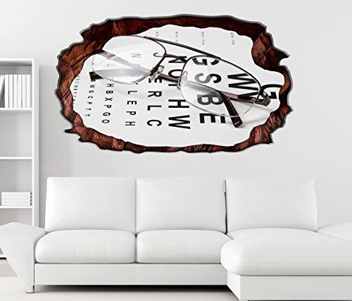 3D Wandtattoo Arzt Auge Augenarzt Brille Test Beruf selbstklebend Wandbild Tattoo Wohnzimmer Wand Aufkleber 11L164, Wandbild Größe F:ca. 97cmx57cm
