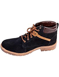Mr. ShoeMaker Men's Casual Boots (Black/Brown)
