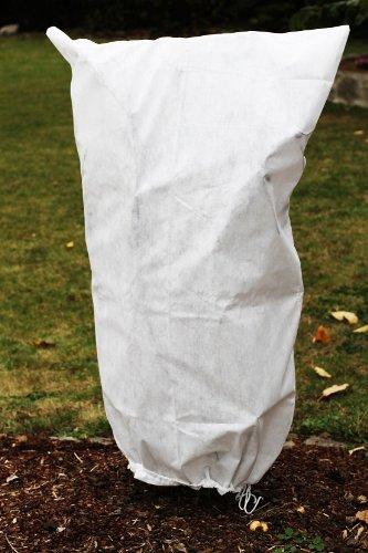 Frostschutzhaube Frostschutzvlies 50g/m² Vlies-Schutzhaube für Kübelpflanzen und Rosen (100cm x 155cm)