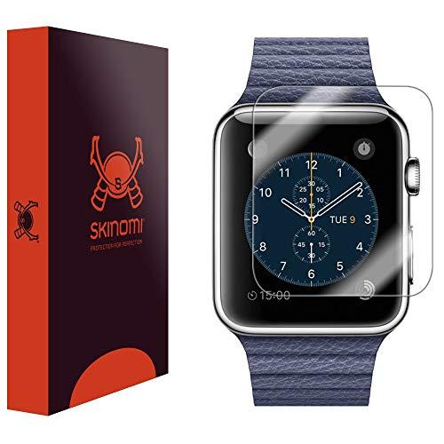 Skinomi TechSkin-Schutzfolie für Apple Watch 42mm (deckt die gesamte Oberfläche Bildschirm + wasserdicht) (6Stück)