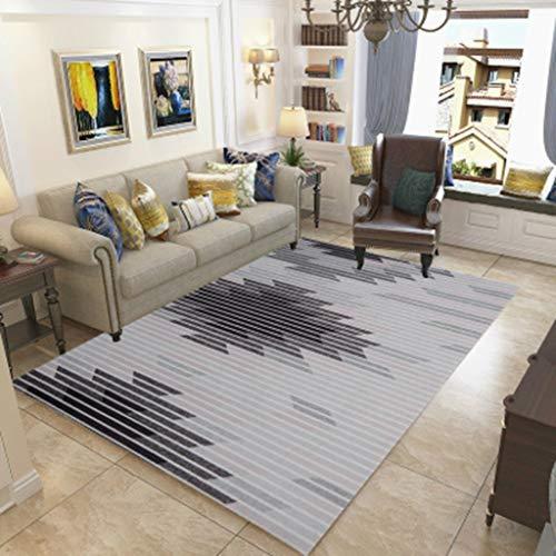 CJW Muster Bodenmatte Druck Teppich einfache geometrische Wohnzimmer Schlafzimmer 3D Nordic Teppich Foyer Bodenmatte (Color : E, Größe : 5.2'X7.5') -