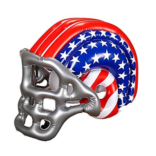 Widmann 04867 - Aufblasbarer Footballhelm mit Amerikanischen Sternen und Streifen für Kinder, One (Football Kostüme Helm)