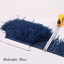 Flecos de plumas de avestruz de 34 colores para hacer sombreros o vestidos azul oscuro