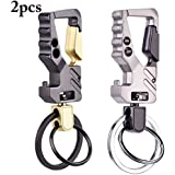Outgeek 2PCS Key Rings 2 In 1 Business Keychain Metal Keychain With Bottle Opener