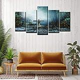 adgkitb canvas 5 Stücke Druckwandkunst Gartenblick Serie Leinwand Malerei Für Wohnzimmer...