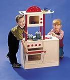 Kinderküche Spielküche Holzküche inkl. Funktionierender Spüle Höhe 98 cm x Breite 65 cm x Tiefe 35 cm von Elka 7931