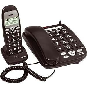 Topcom Butler 900 Big Button Téléphone de bureau DECT + combiné sans fil Touches extra large Combiné avec écran LCD extra large Complètement mains-libres Répertoire pour 10 noms et numéros