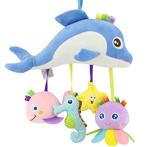 JER Hängende Spielzeug Rassel weichem Plüsch Spielzeug hängen Kinderwagen Spielzeug Neugeborene Kleinkind Halloween Weihnachten Geschenk (Meerestiere)