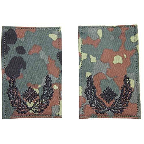 Unbekannt Rangabzeichen mit Klett flecktarn mit schwarzem Stick Major