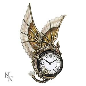 Nemesis Now Horloge murale Dragon Steampunk 25cm
